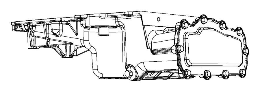 2008 Chrysler Sebring Pan. Oil. Includes oil filter
