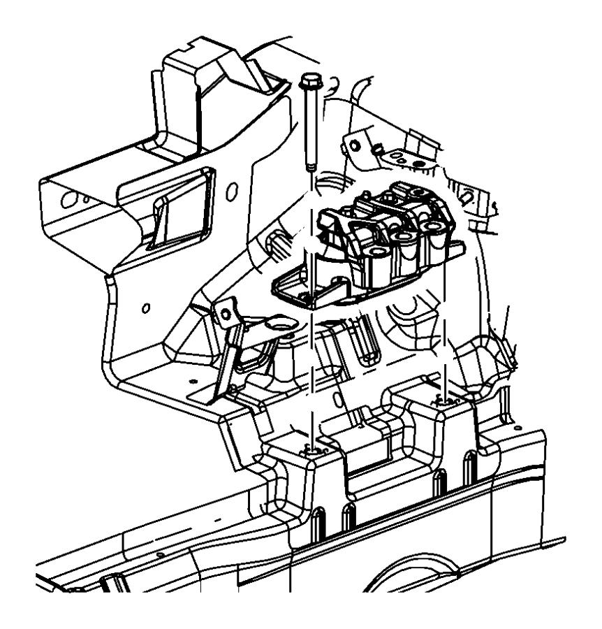 Dodge Avenger Isolator. Right side. Engine, egf, mounting
