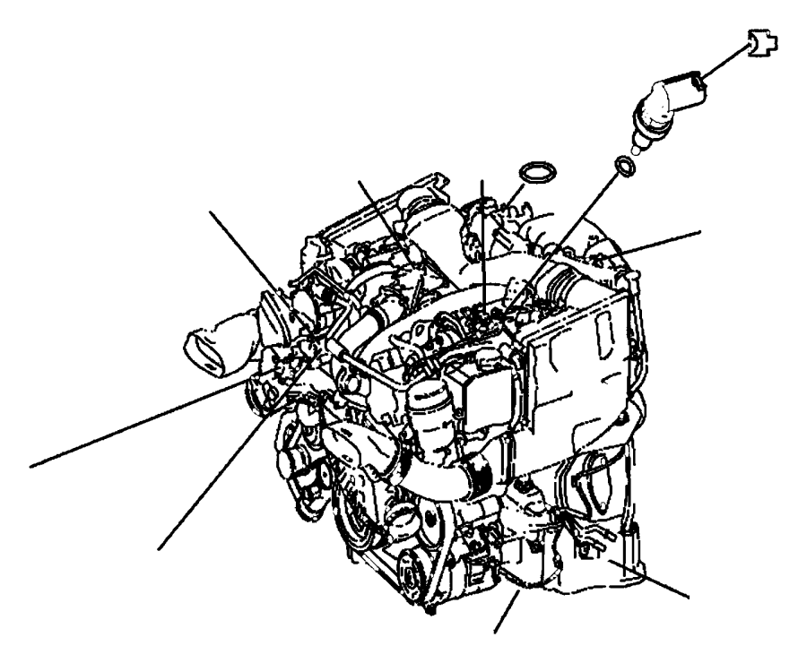 Jeep Engine Coolant Temperature Sensor