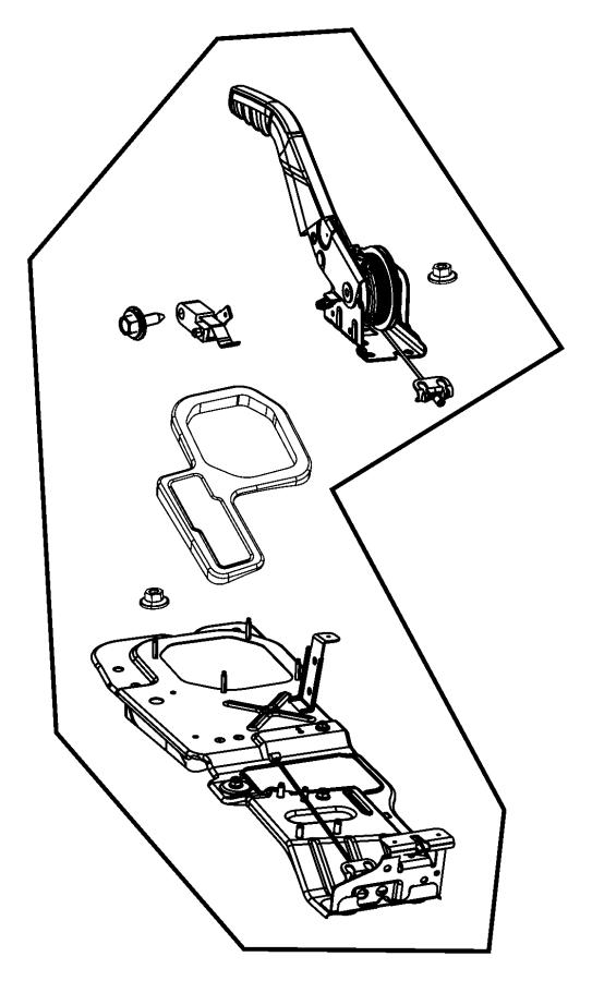 2009 Jeep Liberty Lever assembly. Parking brake. Trim