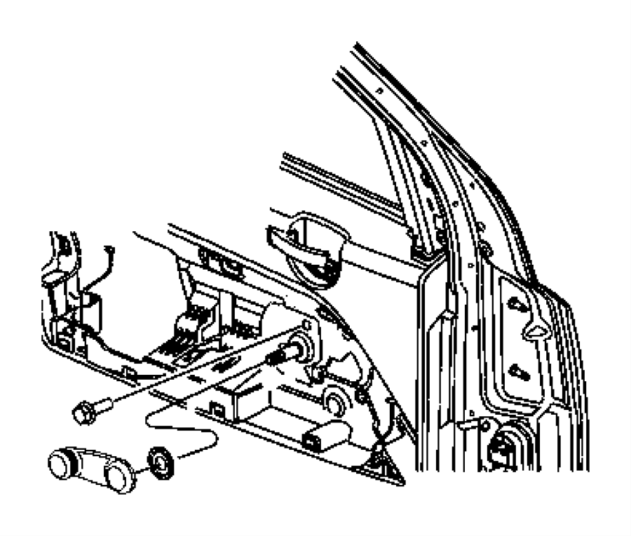 2013 Jeep Patriot Spacer. Window regulator. Trim: [all