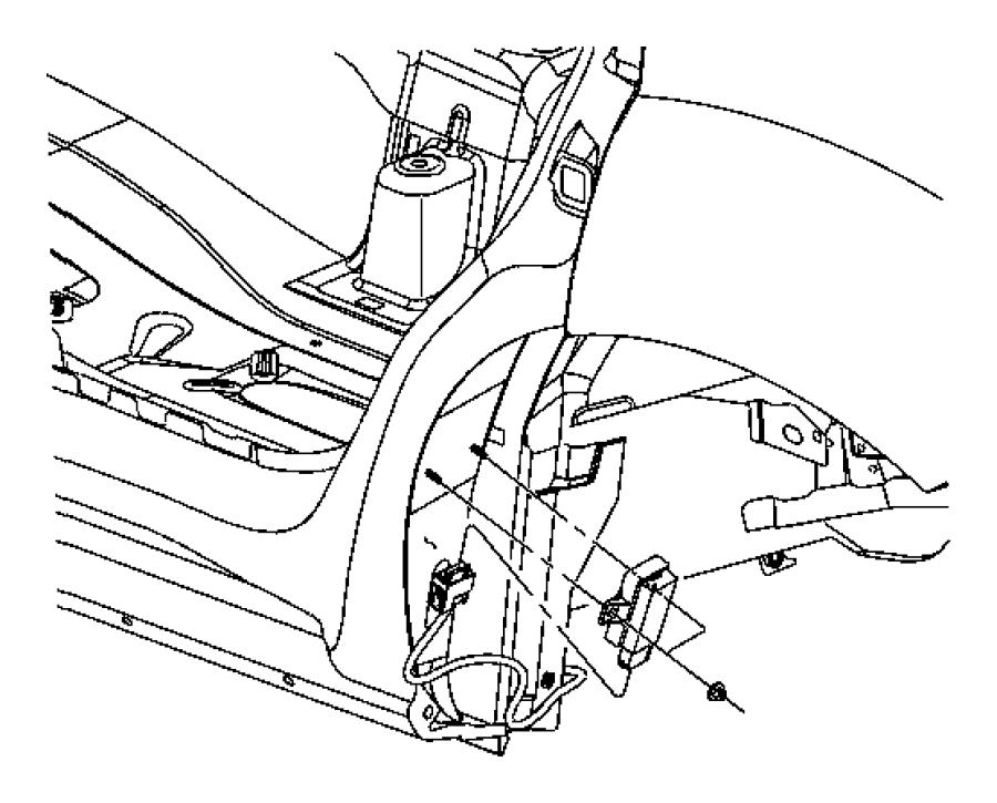2008 Jeep Commander Module. Tire pressure monitoring. Rear