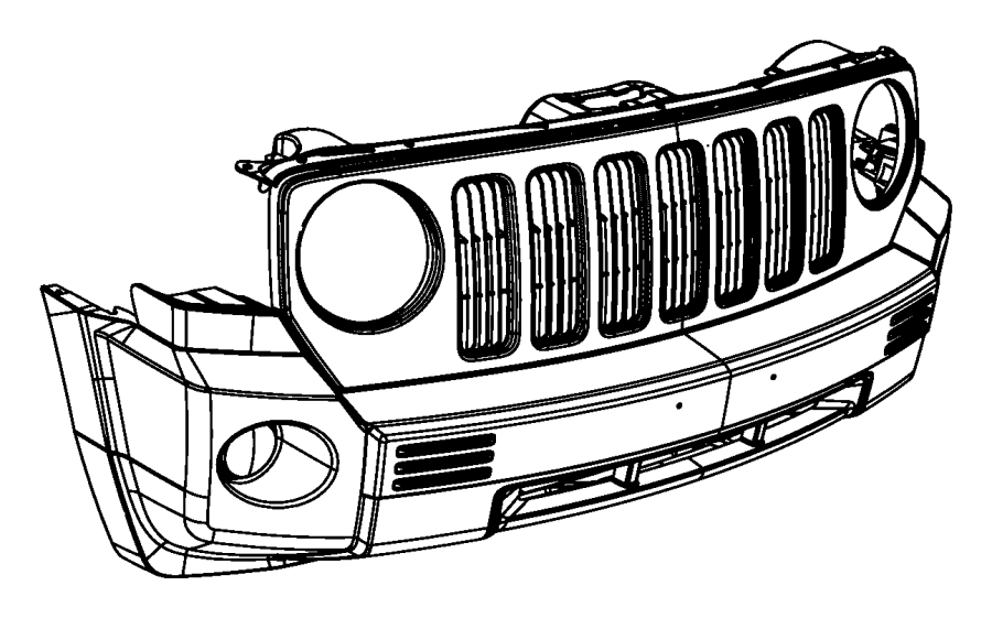 2007 Jeep Patriot Fascia. Front. Xea, tow, hooks