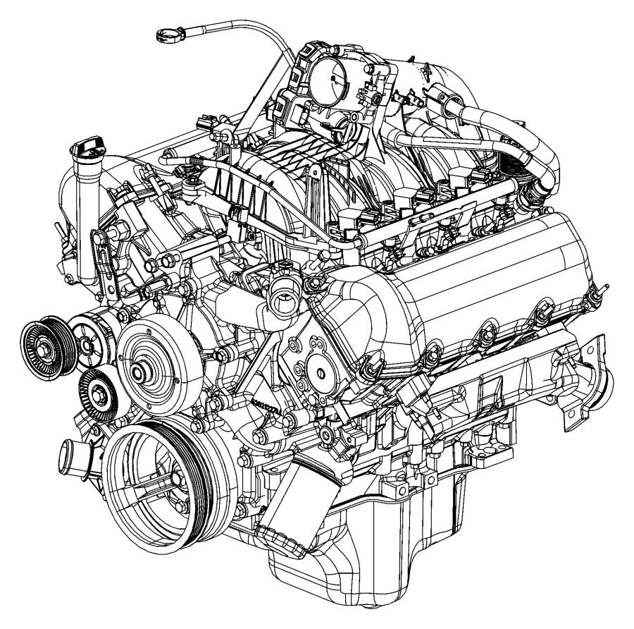 Jeep Commander Engine. Long block. Remanufactured. Service
