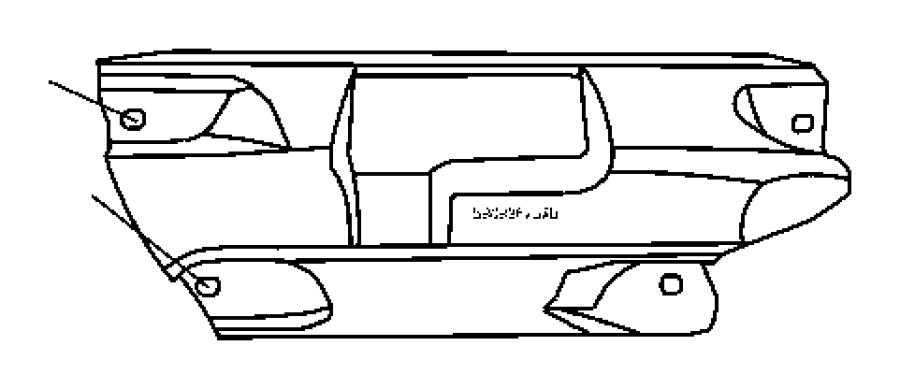 Dodge NITRO Shield. Exhaust manifold. Left, left side. Ekg