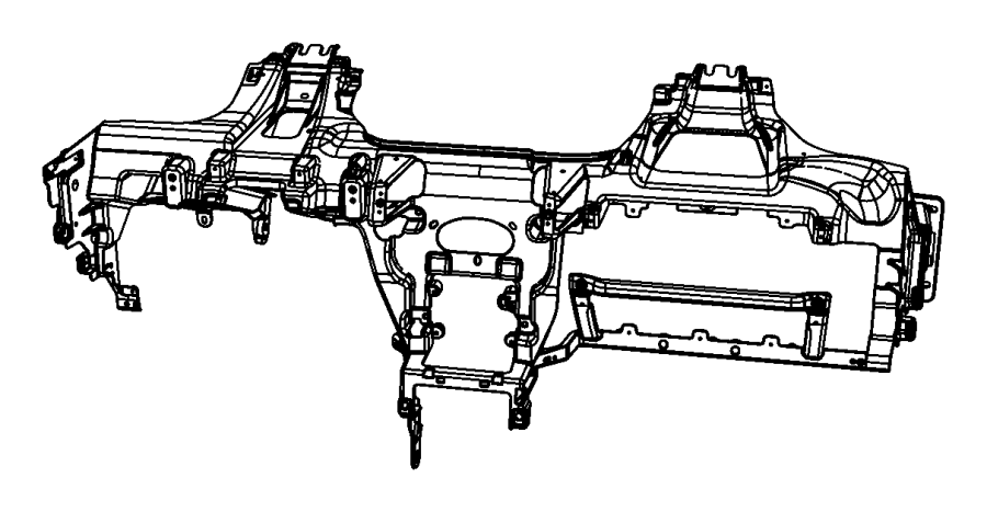2012 Dodge Caliber Reinforcement. Instrument panel. Trim