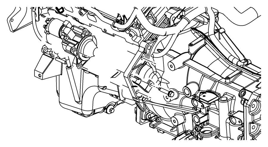 Dodge Charger Bracket. Wiring. Starter wiring. Engine, mpi