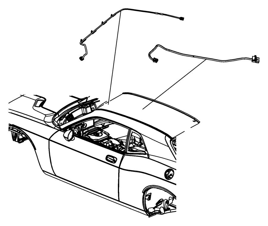 2011 Dodge Challenger Wiring. Sunroof. [power sunroof
