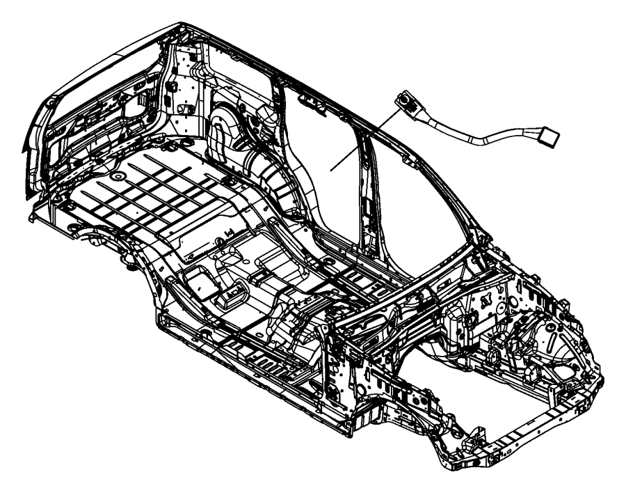2008 Jeep Liberty Harness, wiring. Sunroof. [sky slider