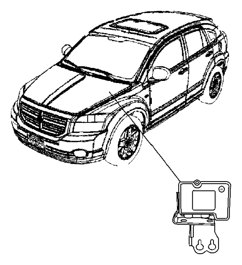 2012 Dodge Caliber Module. Anti-lock brake system. Right