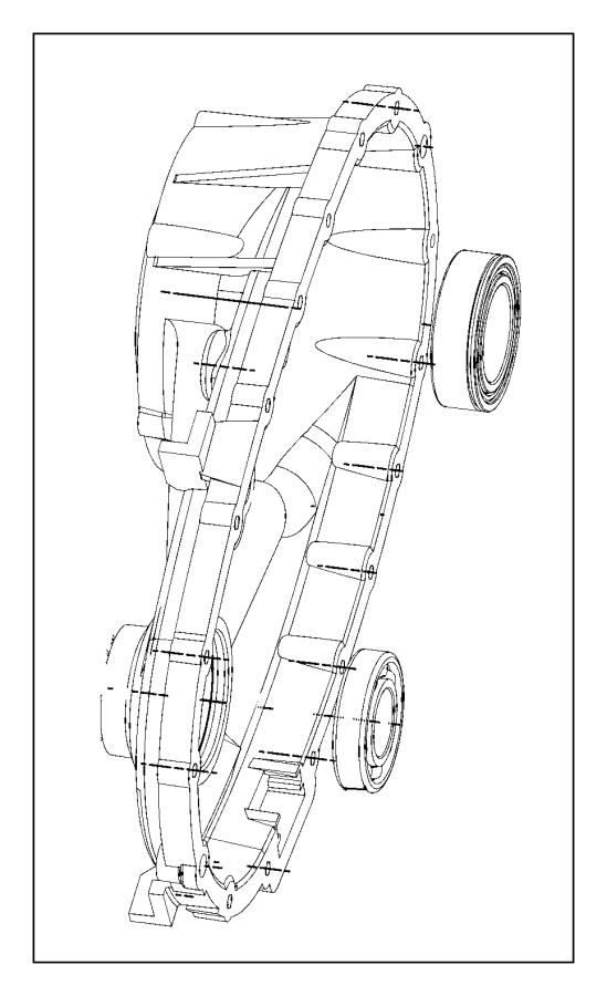 2009 Dodge Durango Bearing. Output shaft. Case, dhr