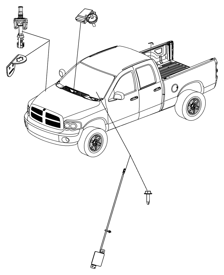 2017 Ram 1500 Bracket. Hood switch. [front end parts