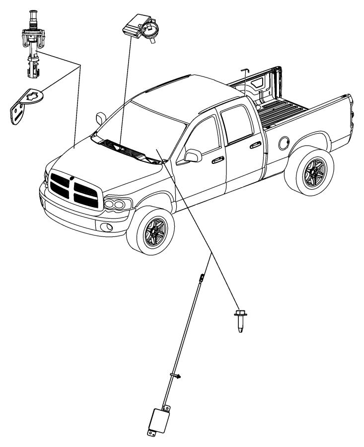 2012 Dodge Ram 2500 Antenna. Keyless entry. Remote, system