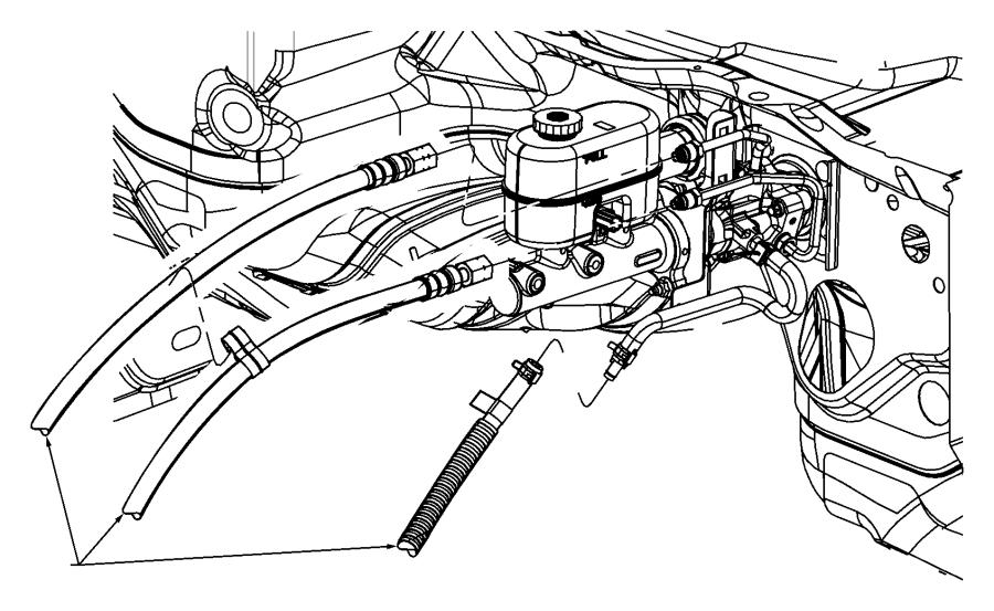 2010 Dodge Ram 5500 Hose. Power steering pressure