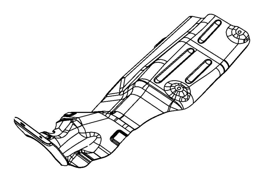 2013 Dodge Journey Shield. Floor pan. Exhaust, system