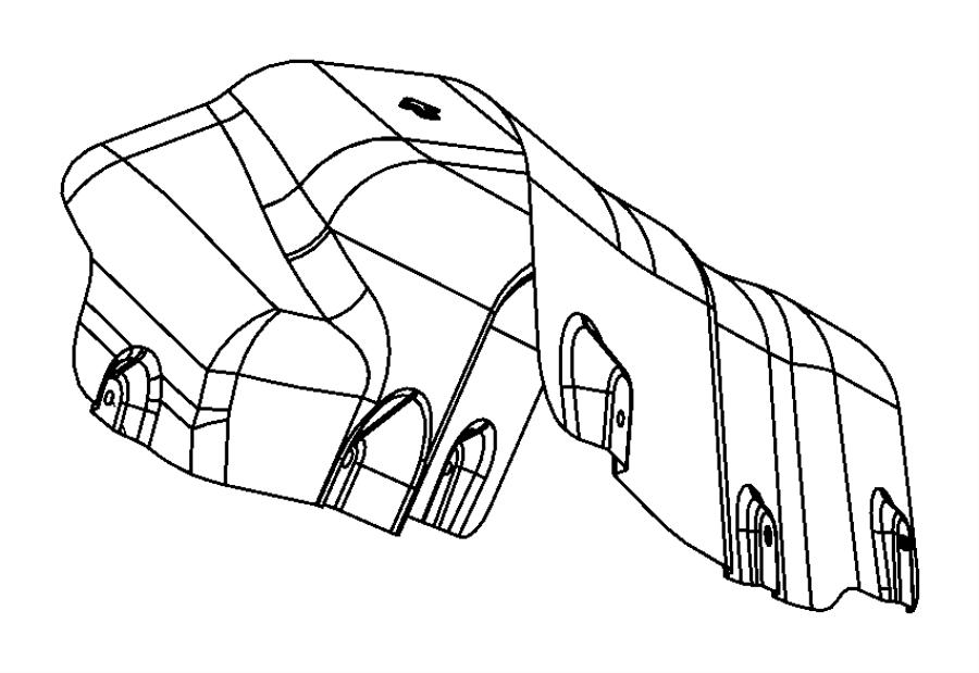 2012 Dodge Avenger Shield. Exhaust, floor pan. Resonator