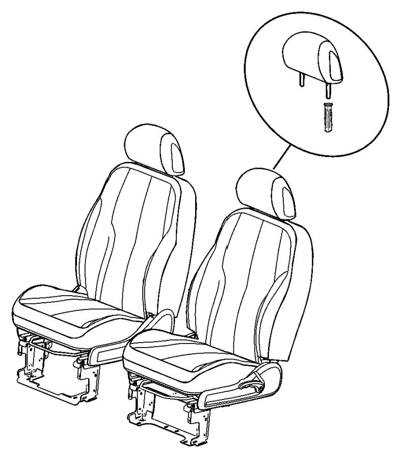 Chrysler PT Cruiser Foam. Seat cushion. Left, right