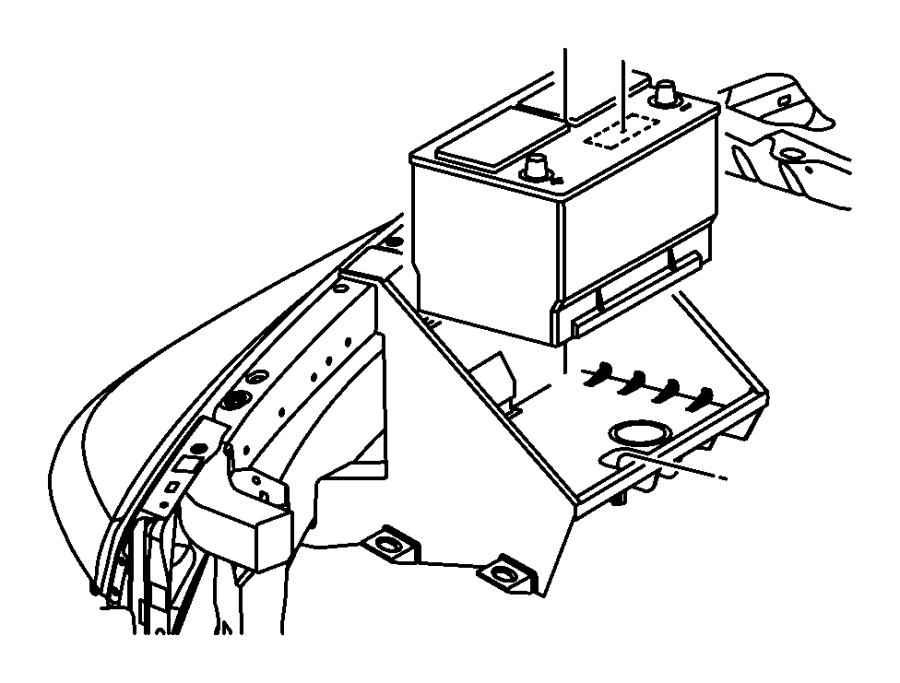 Dodge Ram 1500 Tray. Battery. Right side. Maintenance