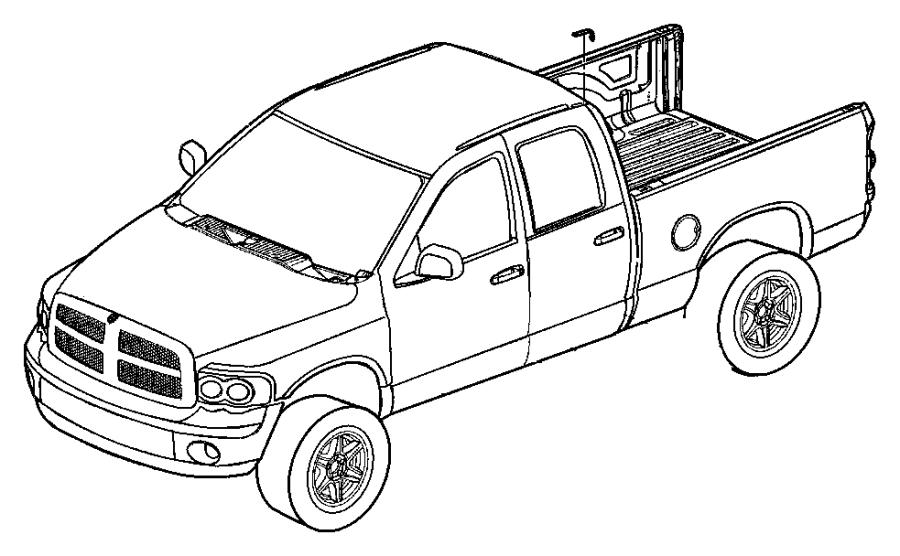 2007 Dodge Ram 2500 Molding. Roof. Quad, right