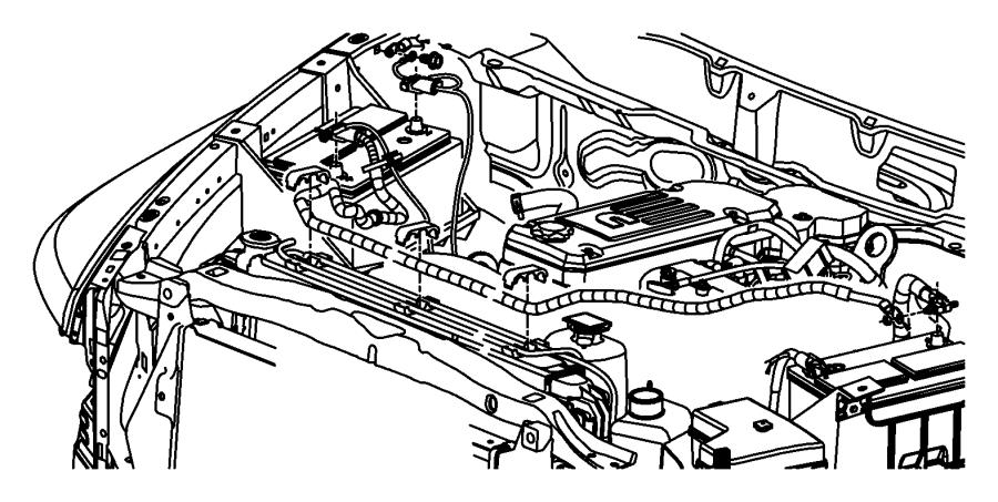 2008 Dodge Ram 2500 Wiring. Battery positive. [[136 amp