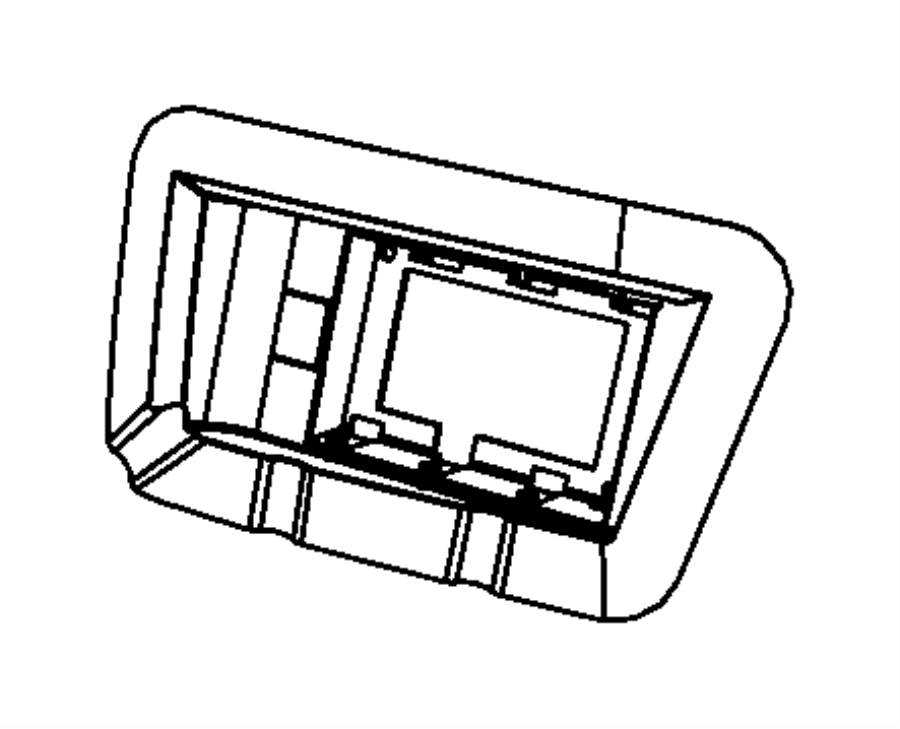 2009 Dodge Grand Caravan Bracket kit. Blind spot detection