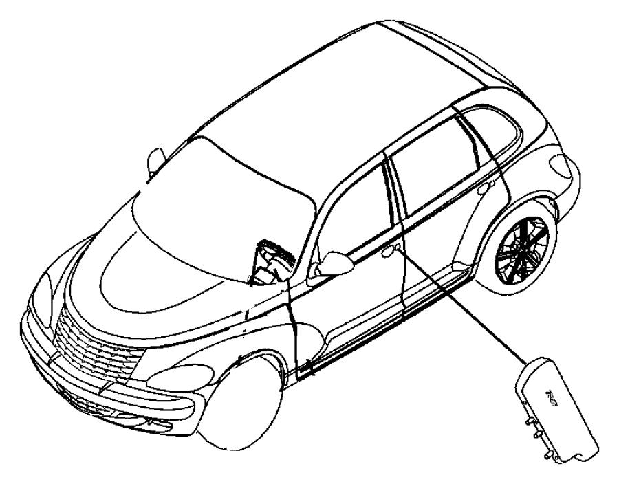 Chrysler PT Cruiser Air bag. Seat. Export. Trim: [cloth