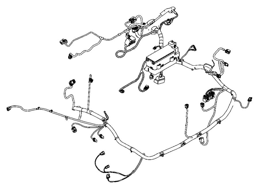 Chrysler PT Cruiser Wiring. Headlamp to dash, used for