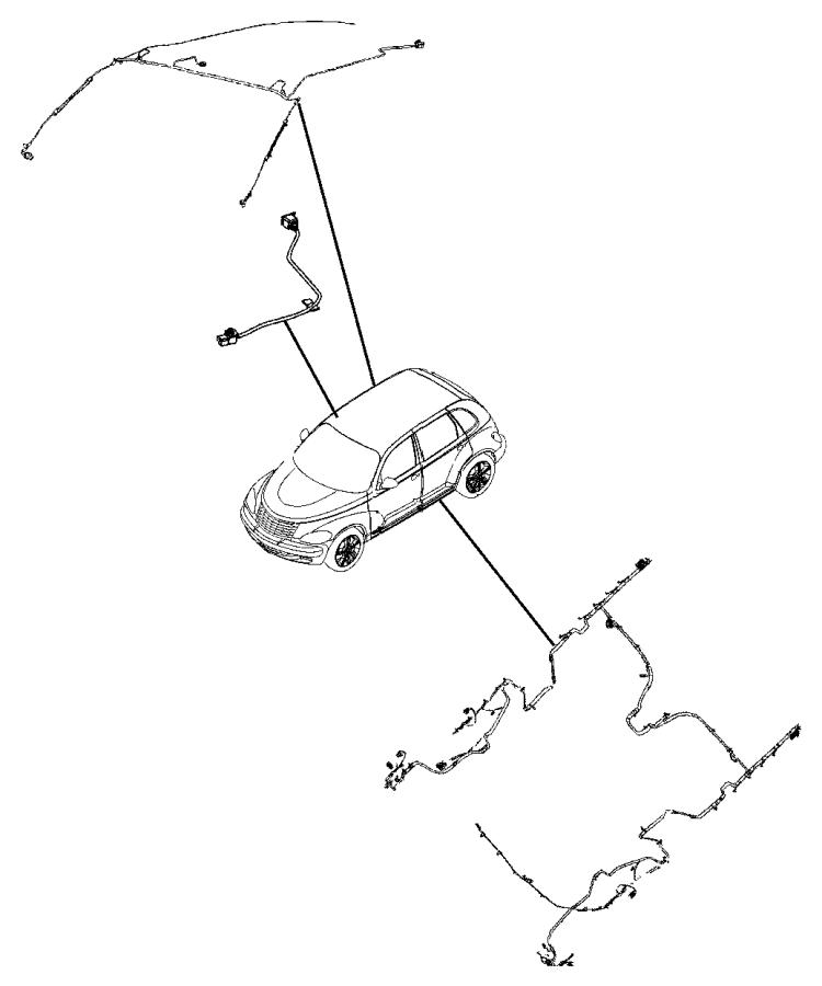 2010 Chrysler PT Cruiser Wiring. Unified body. [[4