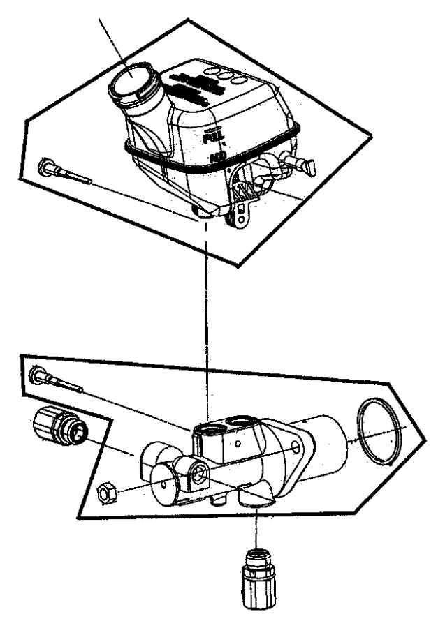Chrysler PT Cruiser Master cylinder. Brake. Lock, disc