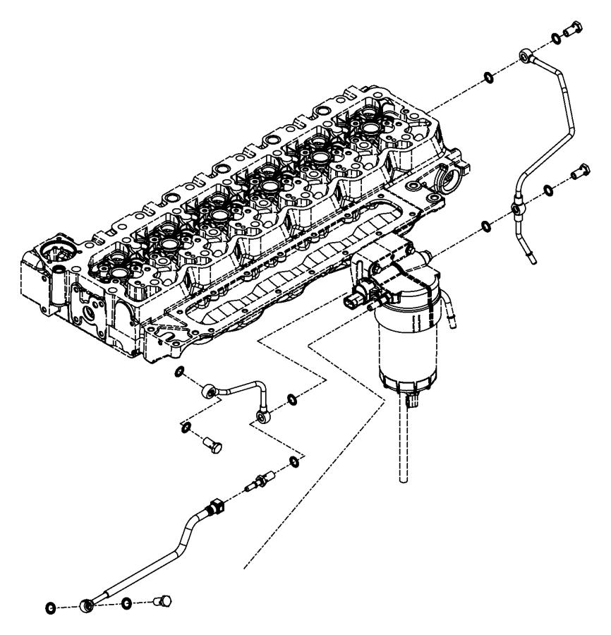 2009 Dodge Ram 3500 Tube. Drain. Emissions, fuel, filter