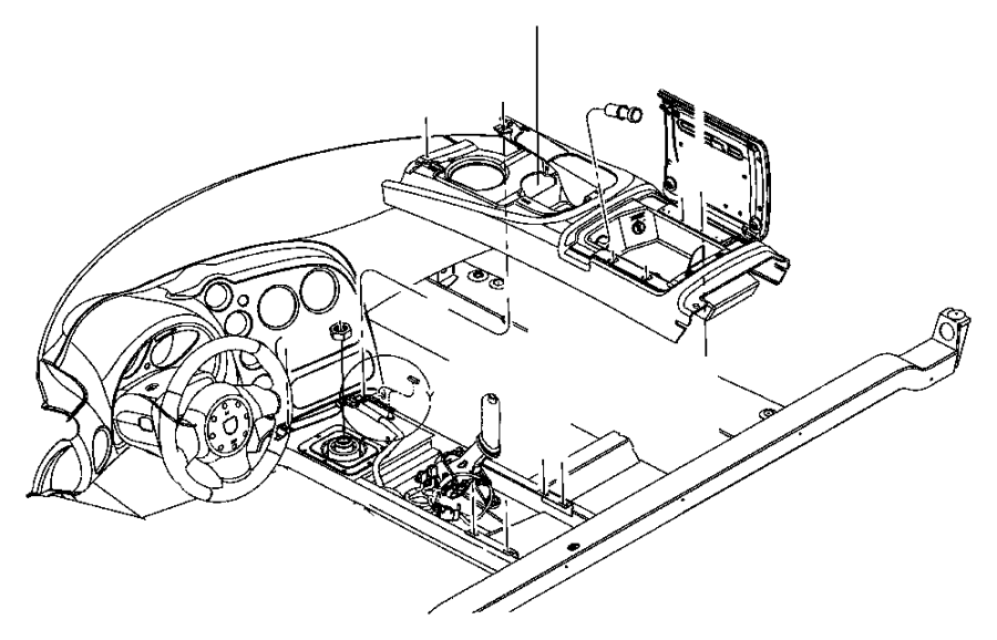 Dodge Viper Boot. Parking brake lever. Trim: [all trim