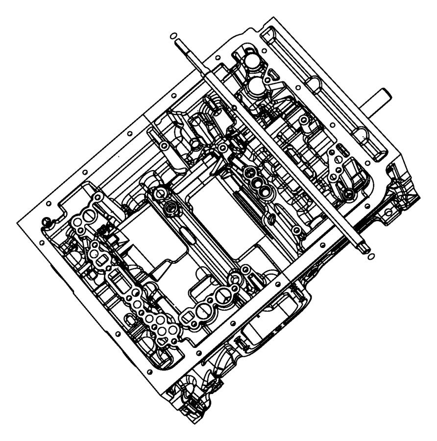 Dodge Ram 4500 Shaft. Manual valve. Parking, sprag