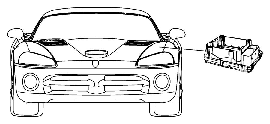 2010 Dodge Viper Module. Anti-lock brake system. Front