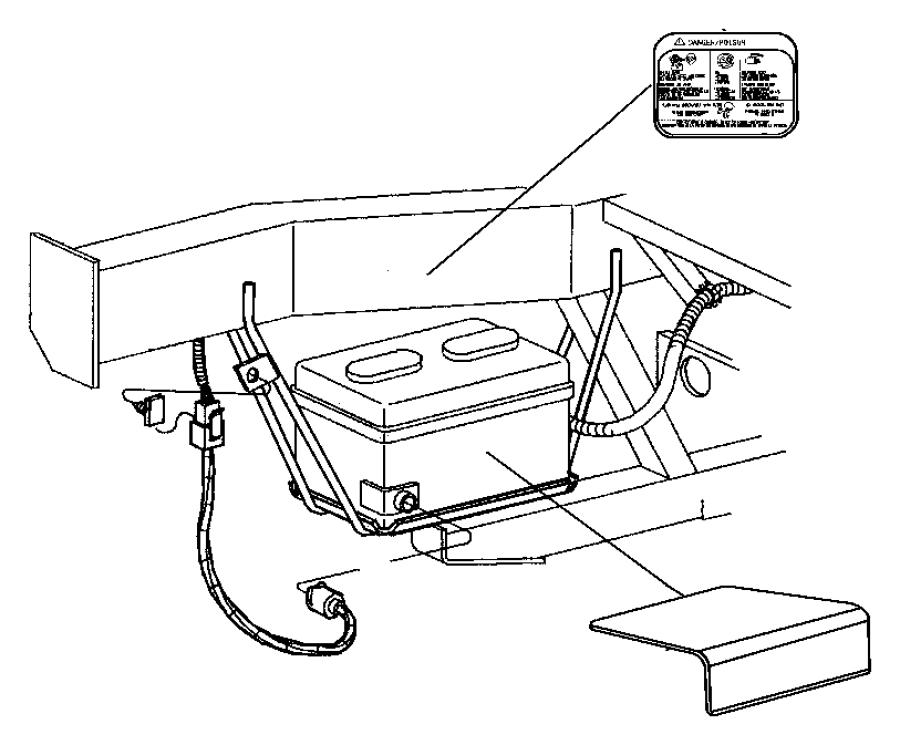 2004 Dodge Viper Cover. Battery. Radio, delete, tray