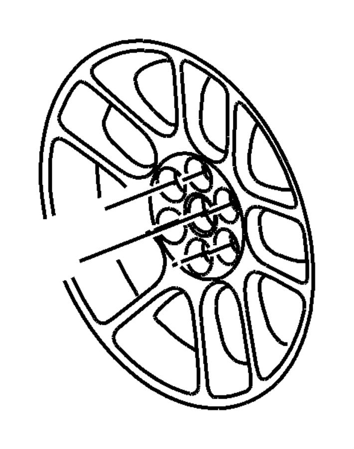Dodge Viper Wheel. Aluminum. Front. [18x10.0 19x13.0