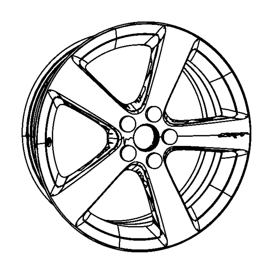 2010 Dodge Caliber Wheel. Aluminum. Color: [no description