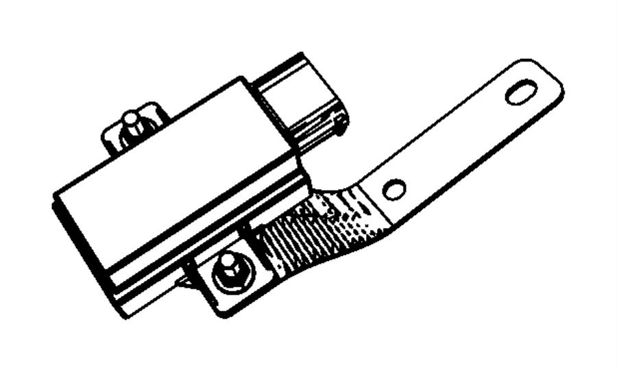 2008 Jeep Patriot Module. Tire pressure monitoring. Left