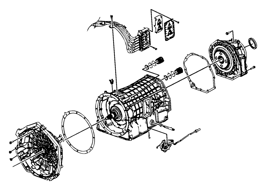 Dodge Durango Shaft. Manual selector. Transmission