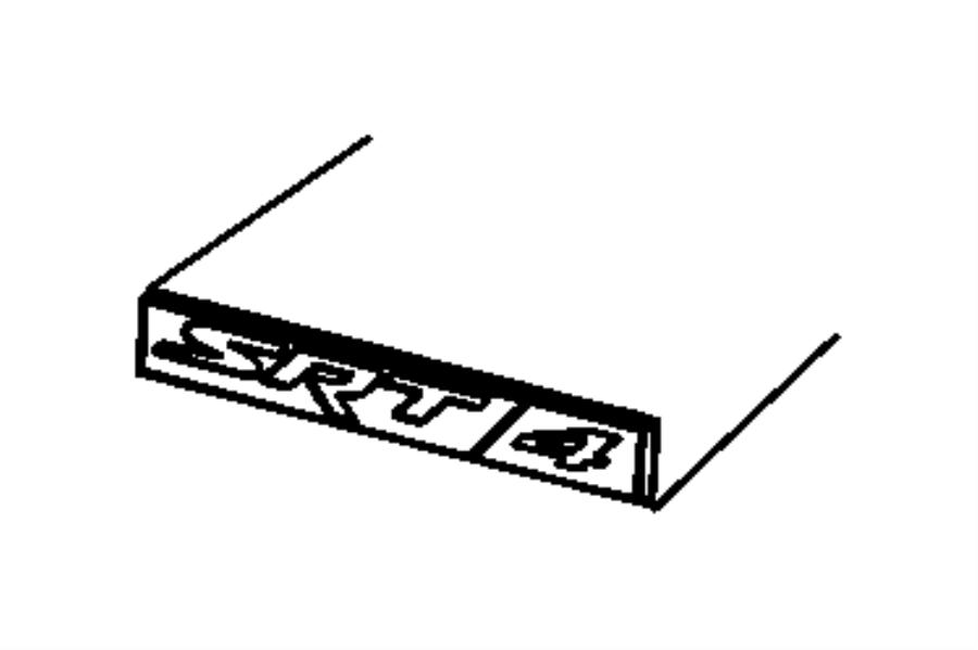 2008 Dodge Caliber Nameplate. [srt4 badge]. Mtu