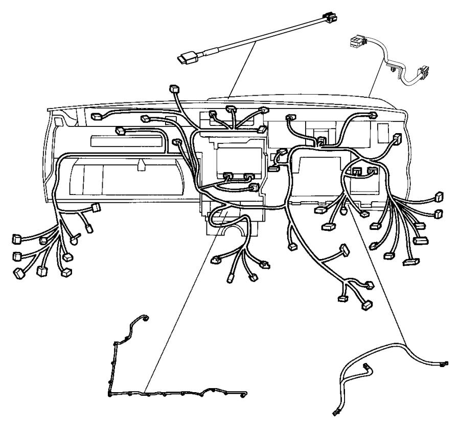 2012 Jeep Grand Cherokee Wiring. Jumper. Instrument panel