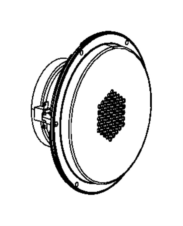 2016 Jeep Grand Cherokee Speaker. Sub woofer. Speakers