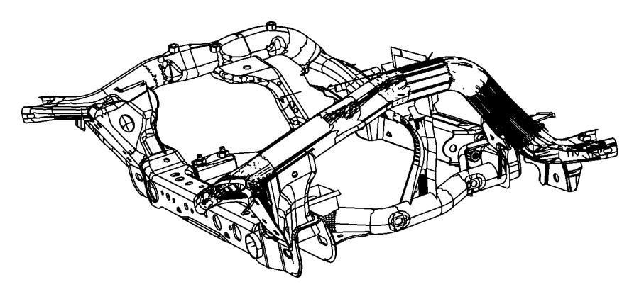 2013 Dodge Durango Cradle. Front suspension. [all v8