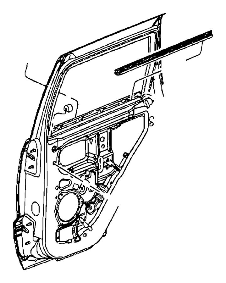 2016 Jeep Grand Cherokee Weatherstrip. Rear door belt