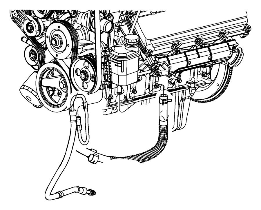 2011 Dodge Ram 3500 Hose. Power steering pressure. Hoses