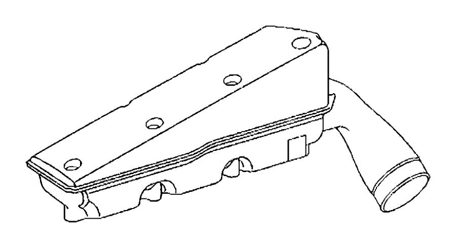 2006 Chrysler Crossfire Plenum. Intake manifold. Right