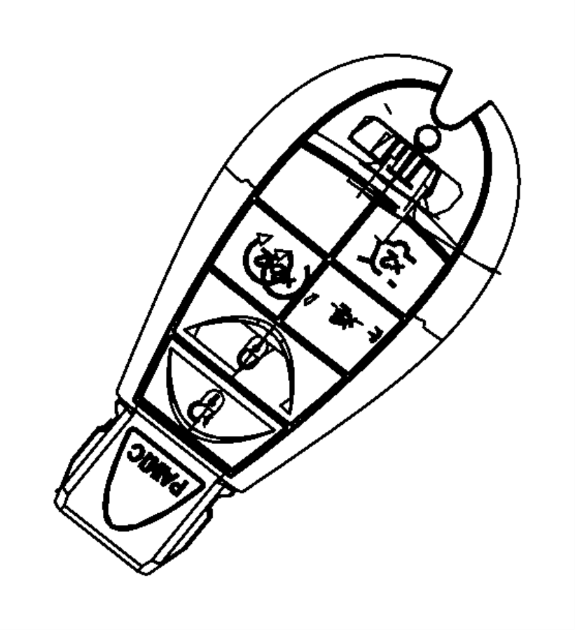 2014 Dodge Grand Caravan Transmitter. Integrated key fob