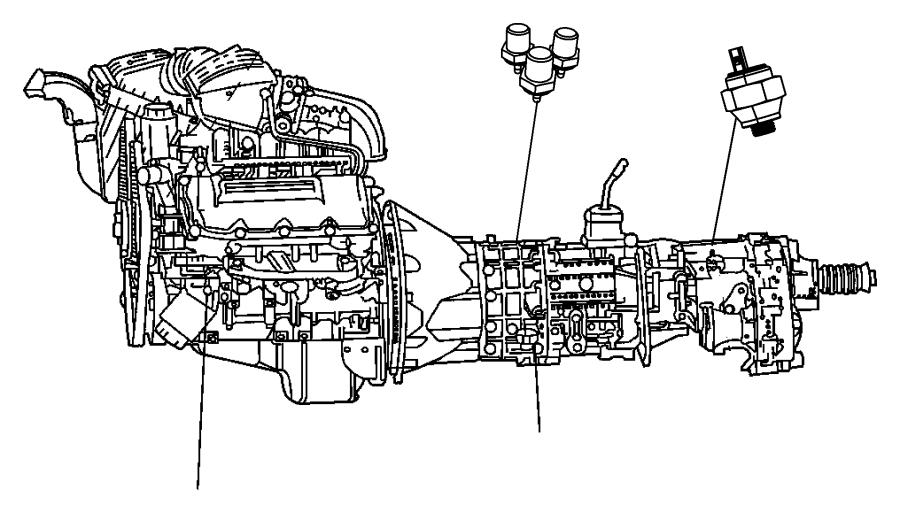 2013 Dodge Ram 5500 Switch. Oil pressure, solenoid. Left
