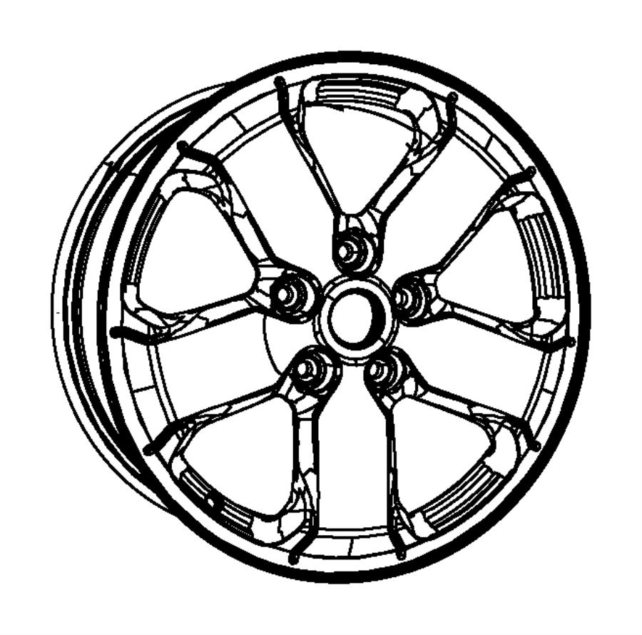 2013 Jeep Grand Cherokee Wheel. Aluminum. Color: [no