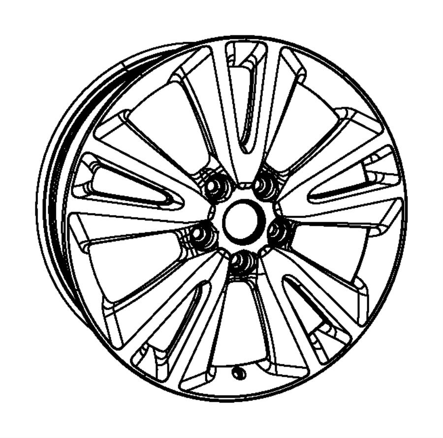 2012 Jeep Grand Cherokee Wheel. Aluminum. Front or rear
