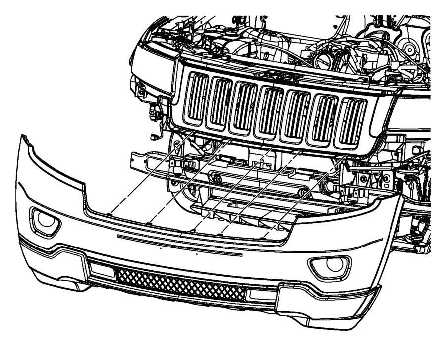 2011 Jeep Grand Cherokee Fascia. Front lower. Fascias